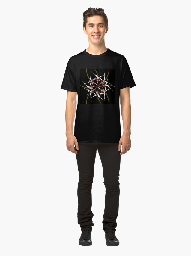 Alternate view of Exotic Orchid Spiral Design native to Western Australia Classic T-Shirt