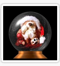 Christmas Teddy Snow Globe Sticker
