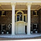 Four Pilars At The Entrance Of The Ayrshire Farm Mansion by Bine