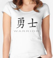 Chinese Symbol for Warrior T-Shirt Women's Fitted Scoop T-Shirt