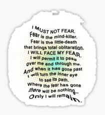 Litany Against Fear Sticker