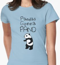 Pandas Gonna Pand Womens Fitted T-Shirt