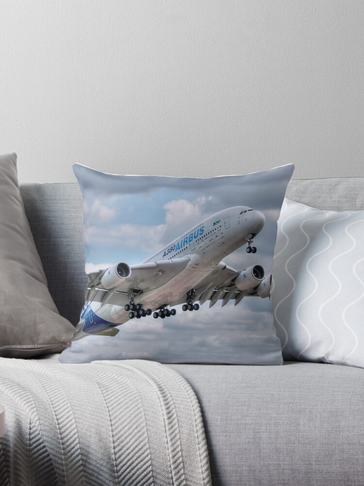 'Airbus A380 - Take-Off' Throw Pillow by © Steve H Clark
