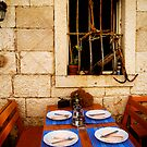 Inviting Korcula Restaurant by Lynnette Peizer