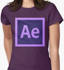 After Effect  CS6 Logo Women's Fitted T-Shirt