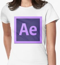 After Effect  CS6 Logo Womens Fitted T-Shirt