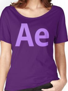 After Effects CS6 Letters Women's Relaxed Fit T-Shirt