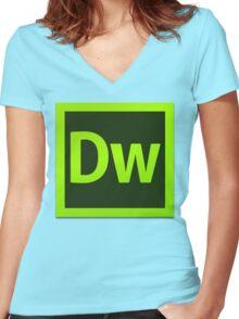 DreamWeaver CS6 Logo Women's Fitted V-Neck T-Shirt