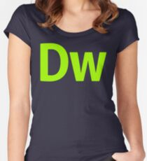 DreamWeaver CS6 Letters Women's Fitted Scoop T-Shirt