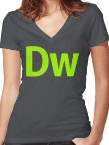 DreamWeaver CS6 Letters Women's Fitted V-Neck T-Shirt