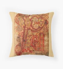 Page from the Book of Kells Throw Pillow
