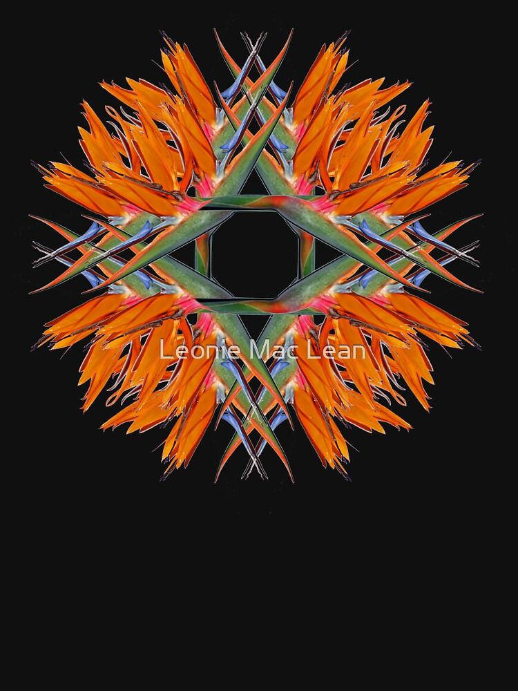 Bird of Paradise Swirl Tee Design by yallmia