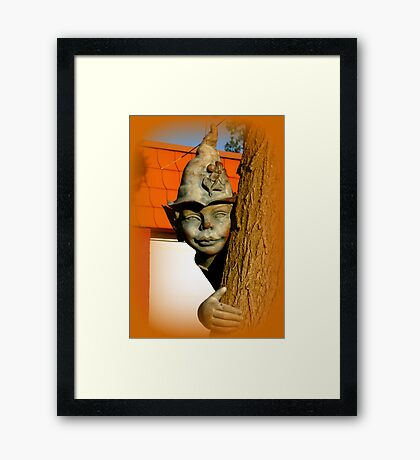 The tree elf Framed Print