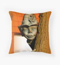 The tree elf Throw Pillow