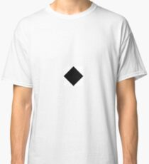 Black and White Diagonal Harlequin Diamond Checks Classic T-Shirt