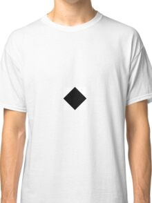 Black and White Diagonal Harlequin Diamond Checks Classic T-Shirt