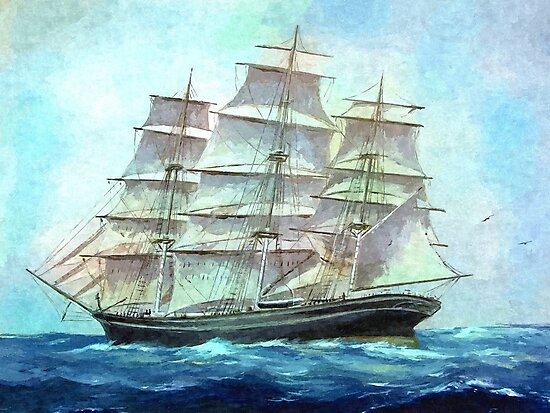 sailing to America by markmonty