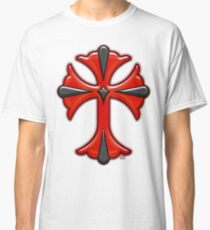 Victorian Design Red Cross Classic T-Shirt