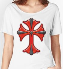Victorian Design Red Cross Women's Relaxed Fit T-Shirt