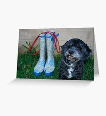 Will someone take me for a walk! Greeting Card