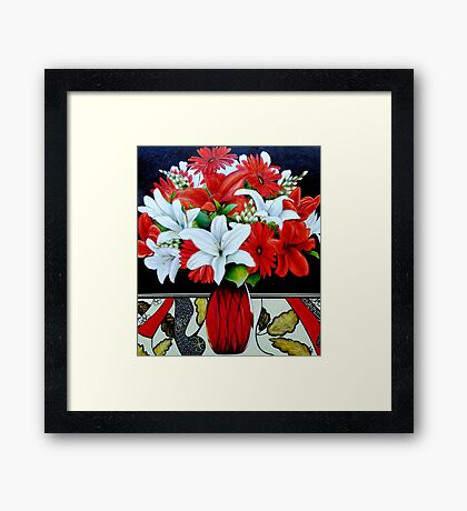 Fabulously Red (Oil Painting) Framed Print