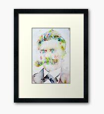 FRIEDRICH NIETZSCHE watercolor portrait.7 Framed Print