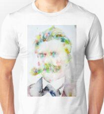 FRIEDRICH NIETZSCHE watercolor portrait.7 T-Shirt