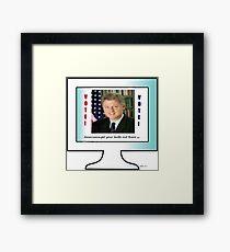 Former President Clinton Framed Print