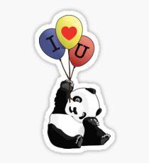 I Love You Panda Sticker
