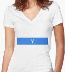 Alphabet Collection - Yankee Blue Women's Fitted V-Neck T-Shirt