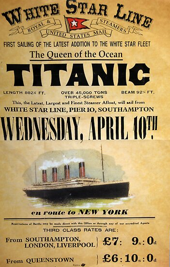 Quot Titanic Quot Poster By Timkiely Redbubble