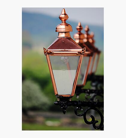 Shiny Street Lamps Photographic Print