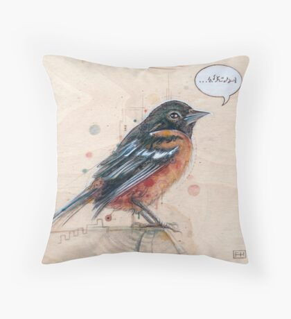 A Bird for Kurt Throw Pillow