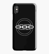 Man or Slave (White) iPhone Case