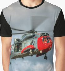 Royal Navy Search and Rescue Sea King Helicopter Graphic T-Shirt