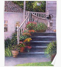 Porch With Watering Cans Poster