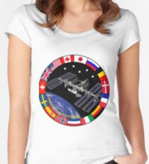ISS Composite Logo Women's Fitted Scoop T-Shirt