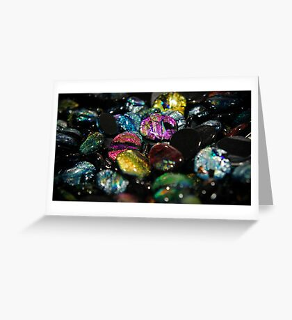 Glass Stones Greeting Card