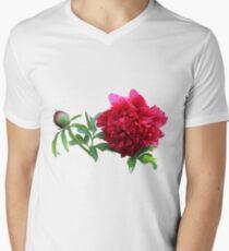 Peony Men's V-Neck T-Shirt
