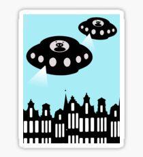Aliens invading Amsterdam Sticker