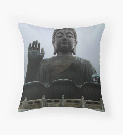 Giant Buddha Statue Throw Pillow
