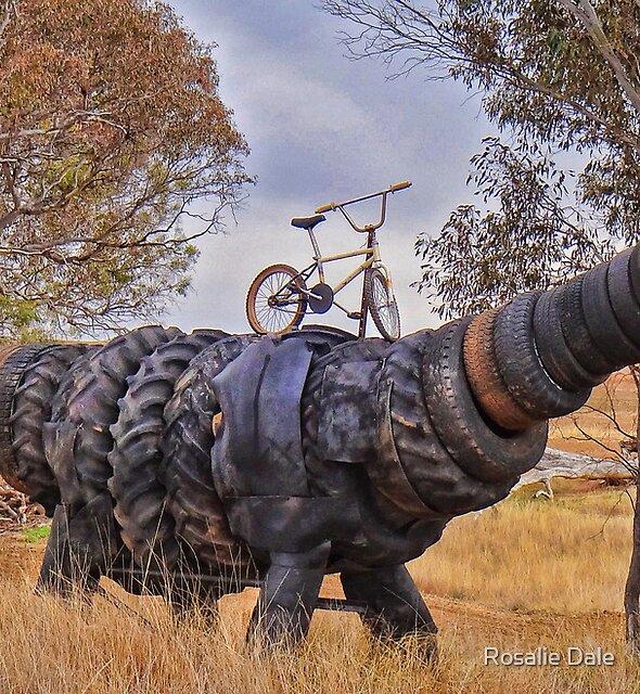 Tyre-Ranasaurus  by Rosalie Dale