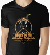 Doc and Marty in the Morning Mens V-Neck T-Shirt