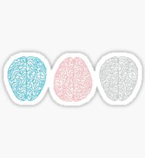 Brainy Pastell Pattern (Super Pastel Brains) Sticker