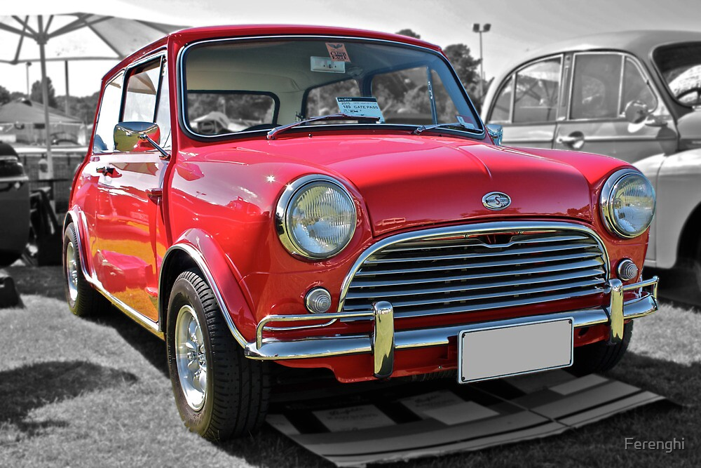 Red Morris Mini Cooper S by Ferenghi