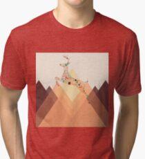 Christmas Reindeer 2 Tri-blend T-Shirt