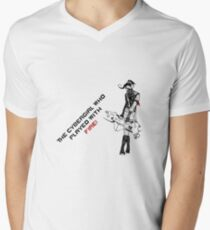 The Cybergirl Who Played With Fire Mens V-Neck T-Shirt