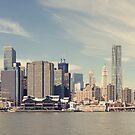 New York City - Manhattan Waterfront Panorama von thomasrichter
