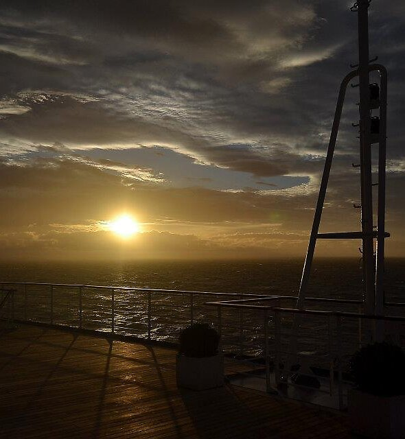 sunset at sea by Anthony Keevers