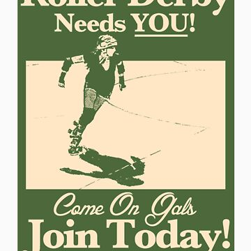 Roller Girl Recruitment Sticker by johnperlock